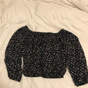 Tops - Brandy Melville Off the Shoulders Floral Top